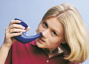 промывание носа при лечении фронтита